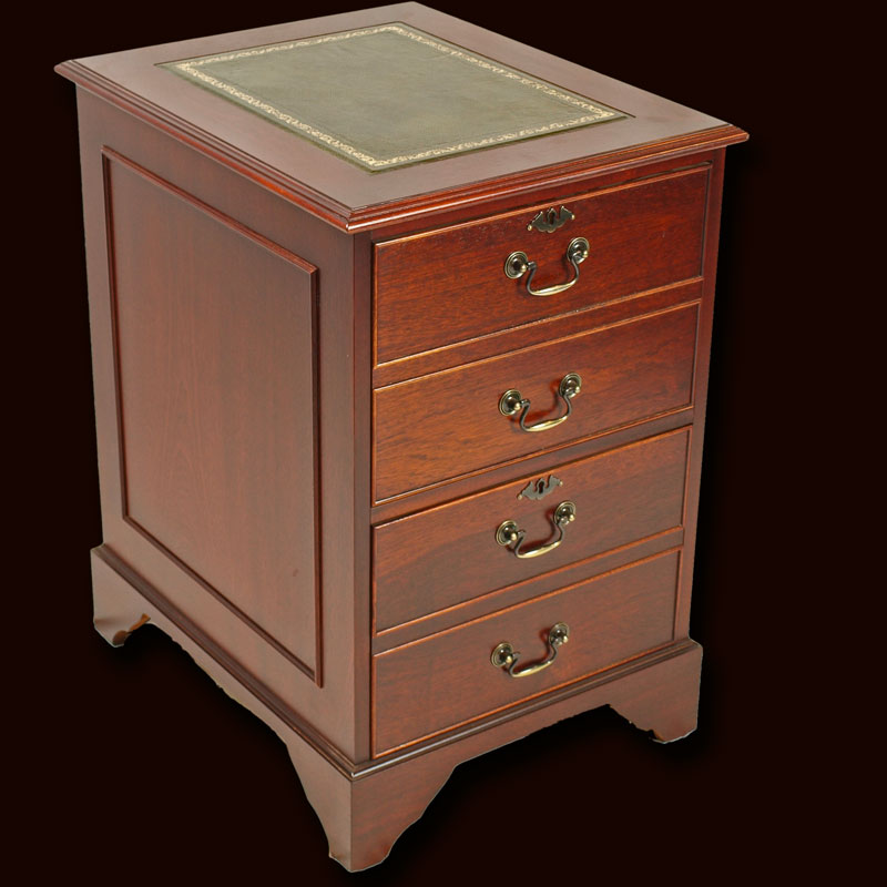 2 Drawer Reproduction Regency Filing Cabinet In Yew