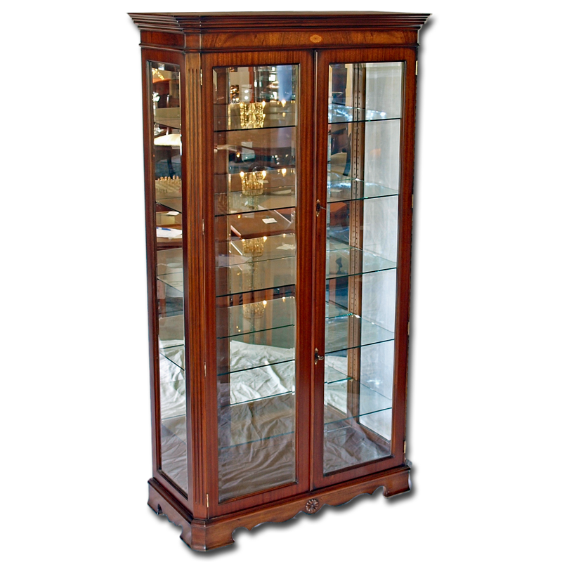 Marquetry Display Cabinet