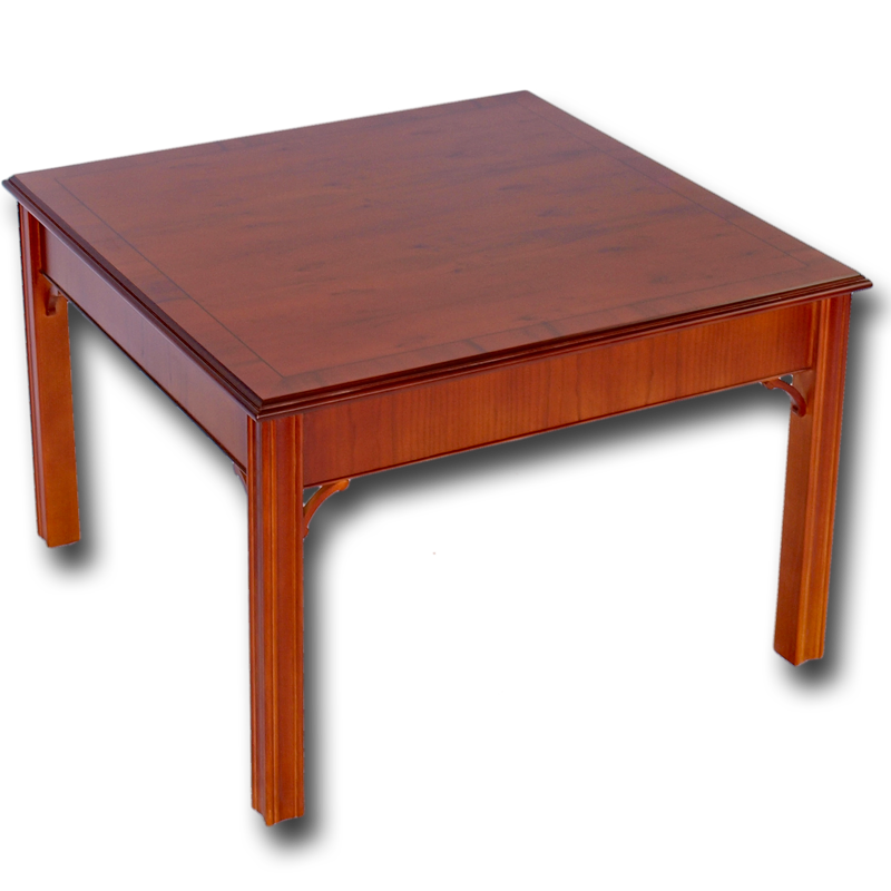 Reproduction Chippendale Coffee Table In Yew Mahogany Oak And Bespoke