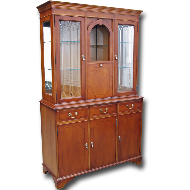 Reproduction 47 inch regency cocktail cabinet in mahogany for Reproduction kitchen cabinets