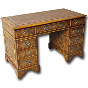 4 x 2 reproduction regency pedestal desk - Design Your Own Desk