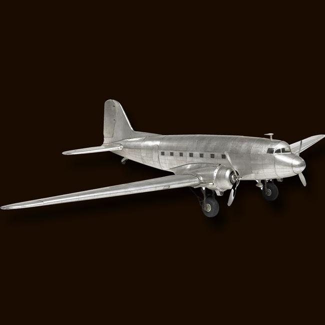 Aluminum Plane WWII Spitfire Trench Art Desk Model 20cm