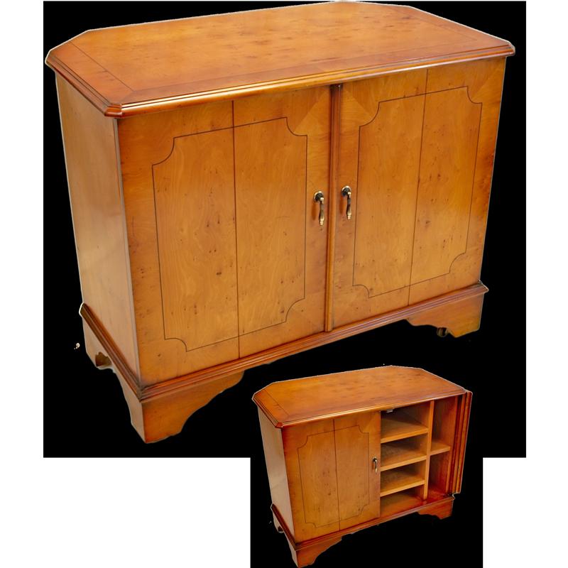 Marshbeck Ltd Corner Tv Stand With Split Folding Doors