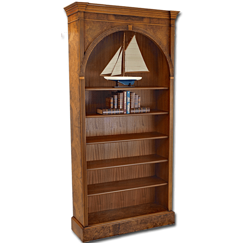 28 Arched Top Bookcase Akd Furniture Tall Arched  : Arch Bookcase Walnut big from otadogguide.com size 800 x 800 png 162kB