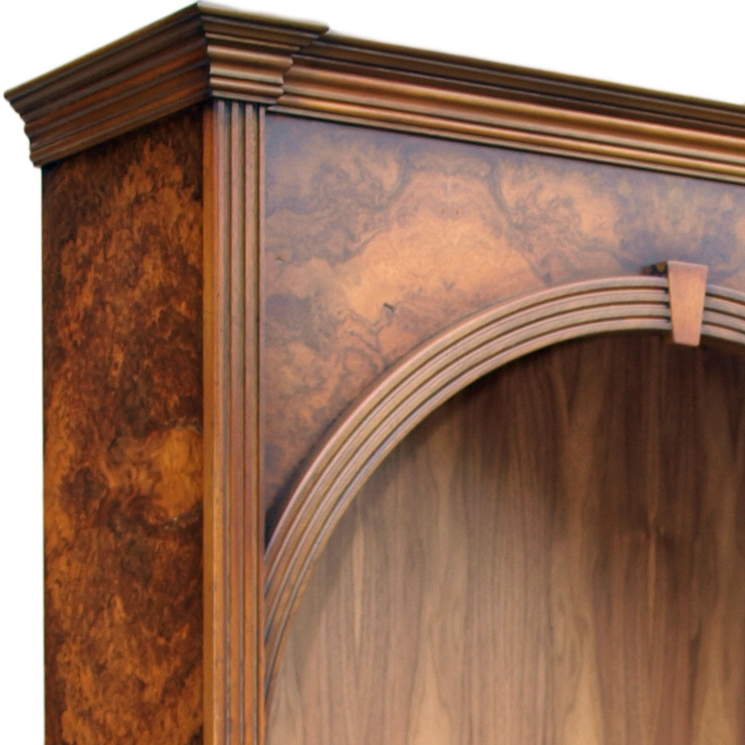 Antique Reproduction Arched Open Bookcase Thumbnail