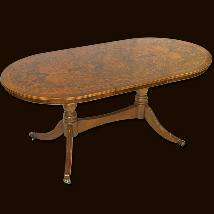 Burr Walnut Reproduction Dining Tables