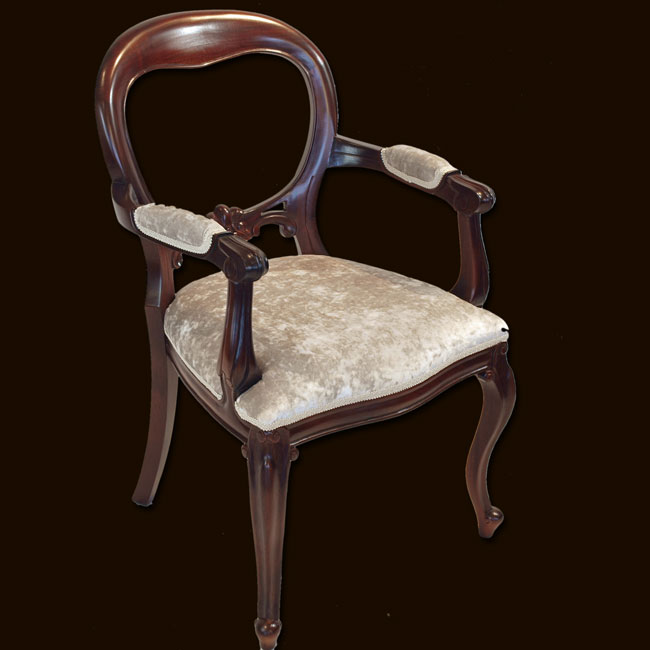 Reproduction Dutch Balloon Back Dining Chair