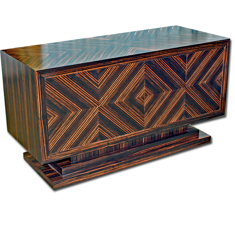 Bespoke examples of our marshbeck art deco inspired furniture for Stand expo deco