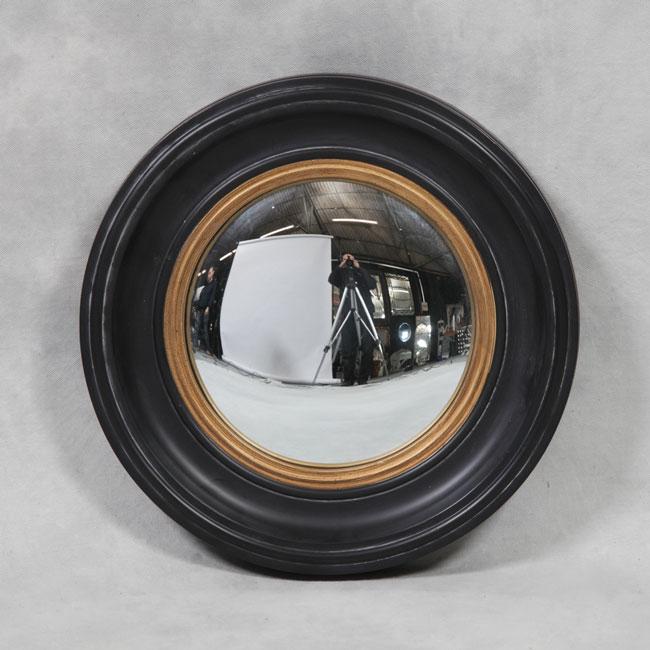 Round Black Small Convex Mirror