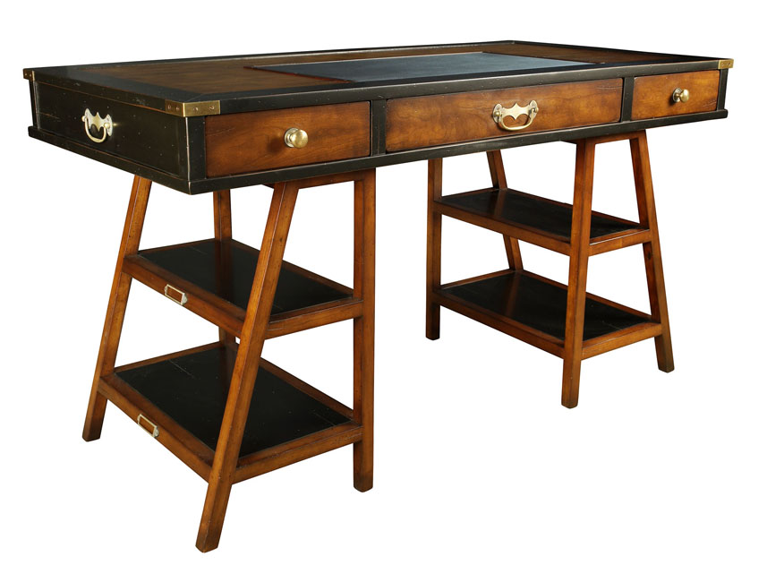 Navigators Desk in Black Ref: MF022 Anyone who considered himself an  officer and a gentleman expected total comfort 'under canvas. - Campaign & Miltary Style Antique Reproductions