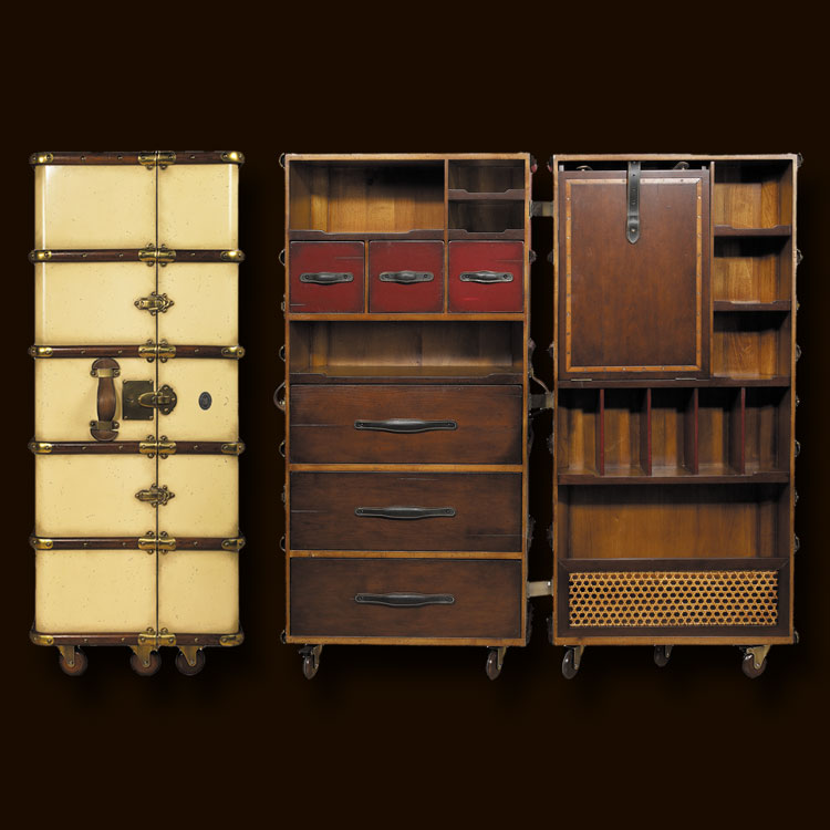 2f0b4830e9c Ref  MF077 Early 19th C. French Louis Vuitton and Goyard trunk and luggage  workshops exported to the traveling upper classes of the world.