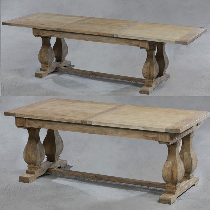 Marshbeck ltd reclaimed solid elm extending dining table Reclaimed wood furniture colorado
