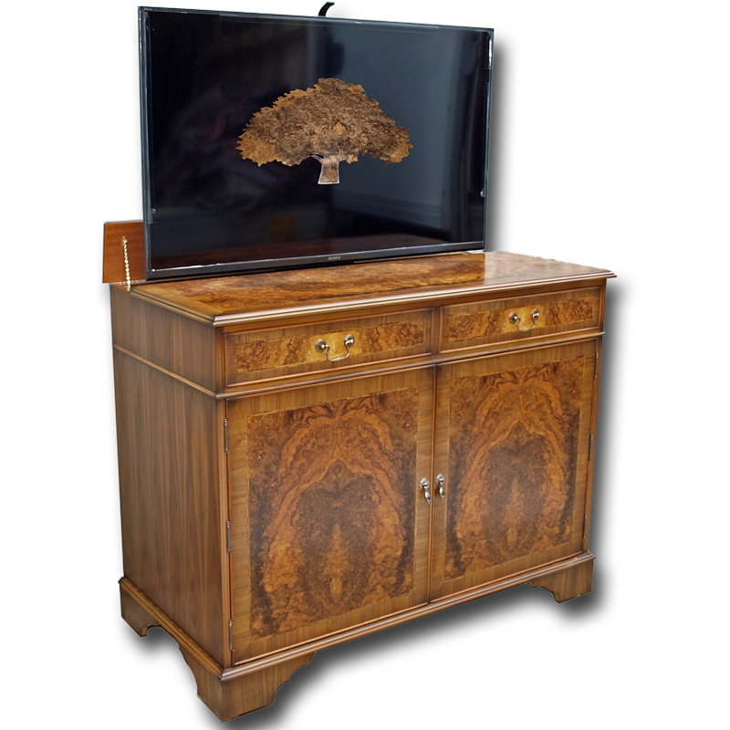 regency sideboard with popup tv. Black Bedroom Furniture Sets. Home Design Ideas