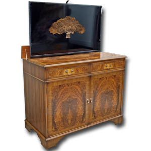 Attirant Regency Sideboard With PopUp TV