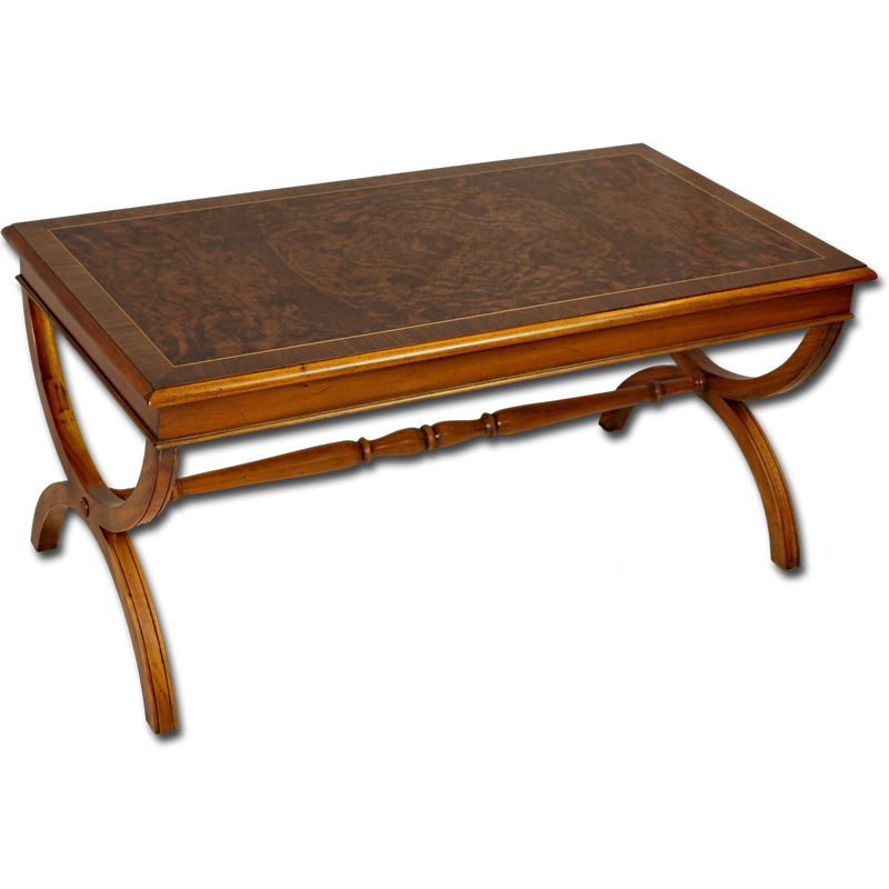 reproduction burr walnut roman coffee table With roman coffee table