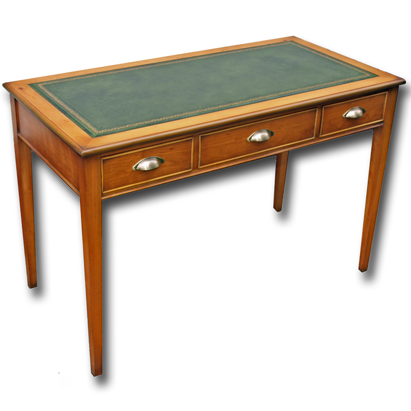 Reproduction sheraton writing desk in yew mahogany and for Replica furniture uk