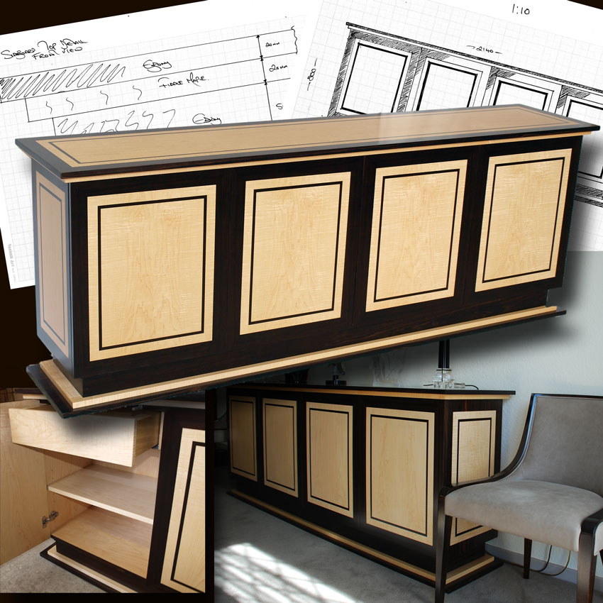 Bespoke examples of our marshbeck art deco inspired furniture for Examples of art deco furniture