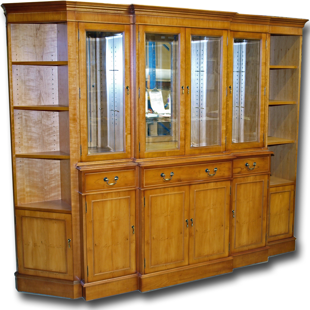 Bespoke painted triple low long bookcase bespoke office furniture - Modular Breakfront Display Bookcase System Ref Besp50 This Impressive Unit Was One Of Our Favourite Bespoke Projects In 2016