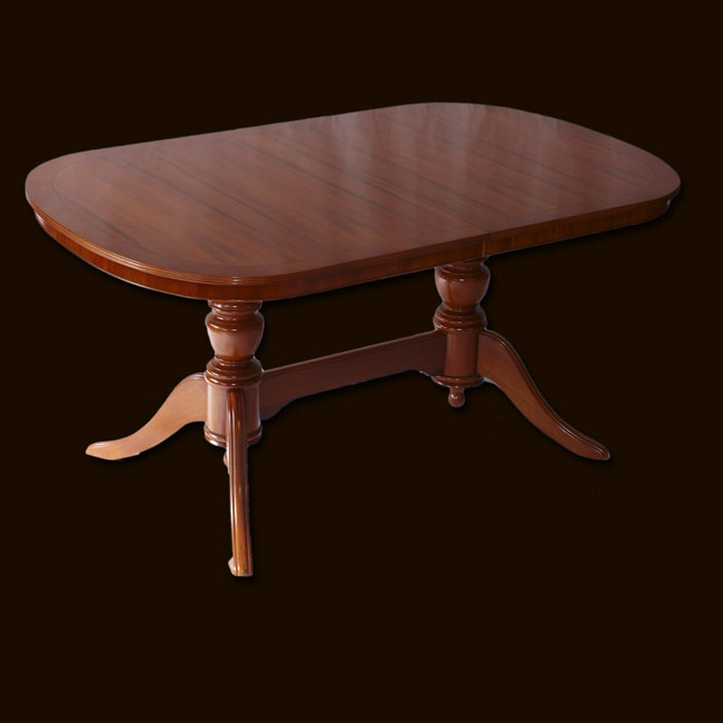 Reproduction 60 X 36 Extending Dining Table In Yew Mahogany Oak And Bespoke
