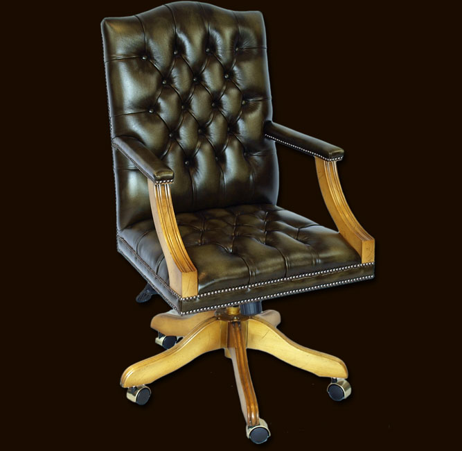 Full Size Reproduction Gainsborough Swivel Desk Chair
