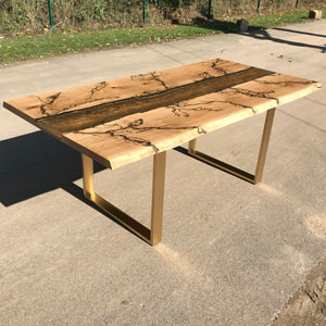Molten Gold Oak River  Dining Table