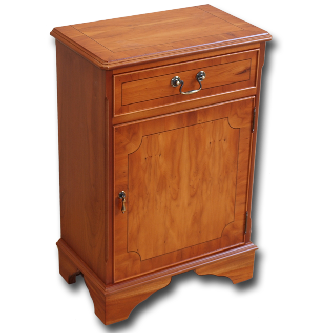 Reproduction small regency hall cupboard in yew oak for Replica furniture uk