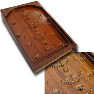 Large Classic Rosewood Table Top Bagatelle Game