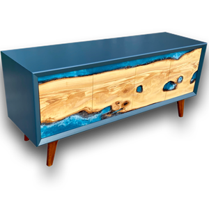 Contemporary Media Unit/Low Sideboard with Olive River Doors