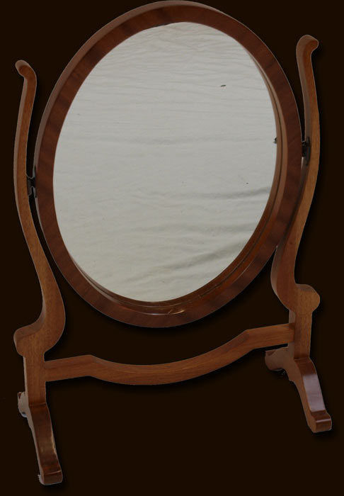 Reproduction Bedroom Mirrors In Mahogany Yew Oak And Bespoke