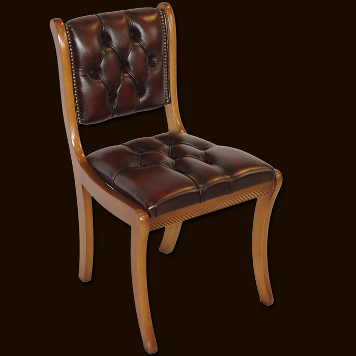 Reproduction Regency Leather Office Chair Traditional