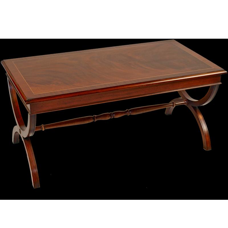 Burr walnut roman coffee table for Replica furniture uk