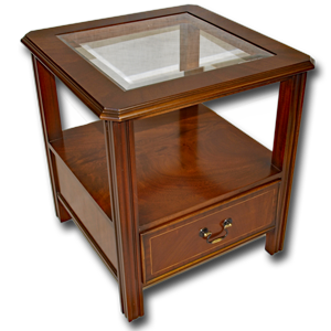 Marshbeck yew mahogany reproduction furniture side lamp tables chippendale lampside table mozeypictures Image collections