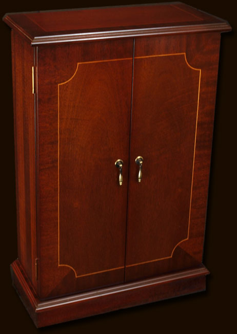 Reproduction Cd Storage Cabinet With Doors In Yew