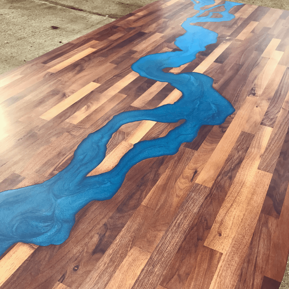 Genial ... Walnut U0026 Blue Resin River Dining Table Thumbnail ...