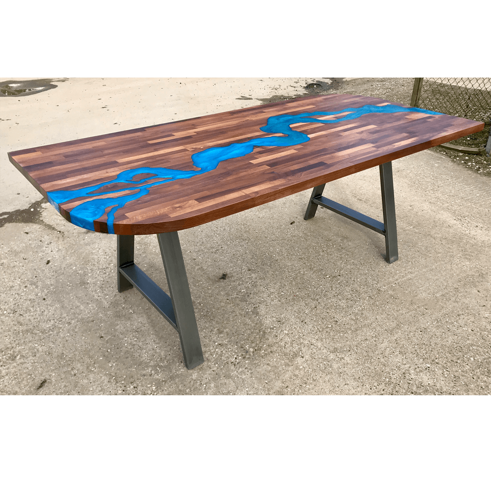 Design Your Own Resin River Dining Table Ref: RVD In Stock.