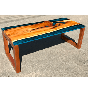Yew & Reef Blue Resin River Coffee Table