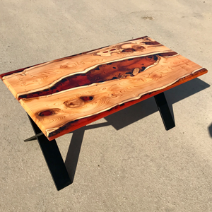 Yew Lava Flow Coffee Table